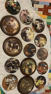 $ CDN25 • Buy Large Set Of Norman Rockwell Plates