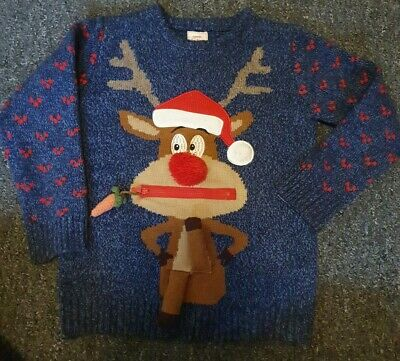 Lovely Boys Rudolph Christmas Jumper Aged 7-8 • 8.99£