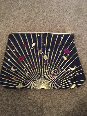 Estee Lauder Blue / Gold Make-up / Cosmetic Bag - Limited Edition - Brand NEW • 2£