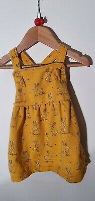 Girls 9-12 Months Pinafore Dress. Mustard Colour. B Is For Bunny @ George • 0.99£