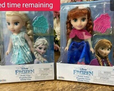 Disney Frozen Petite Anna & Elsa Toddler Dolls, New In Boxes. Come Play With Me. • 24.99£