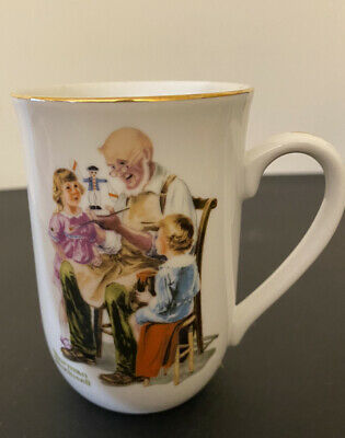 $ CDN18.13 • Buy 1982 Norman Rockwell Museum Collectible Coffee Tea Cup Mug The Toy Maker