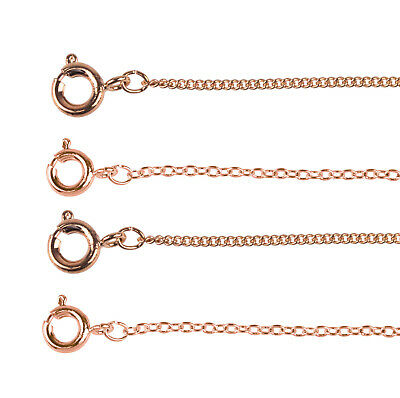 Rose Gold Plated 18 /45cm Chain - Choose Your Style • 3.60£