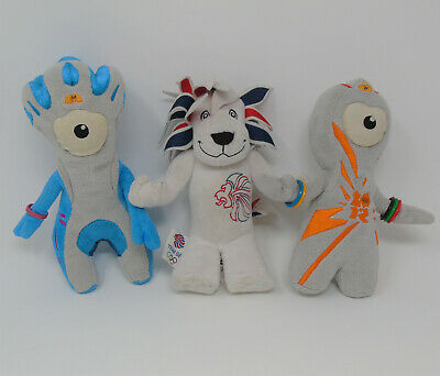 3 X London 2012 Team Gb Olympic Mascots Wenlock And Mandeville Pride The Lion • 14.99£