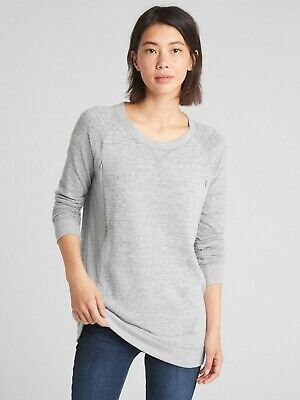 Gap Maternity Nursing Sweatshirt Jumper Zips Size XL Grey • 3£
