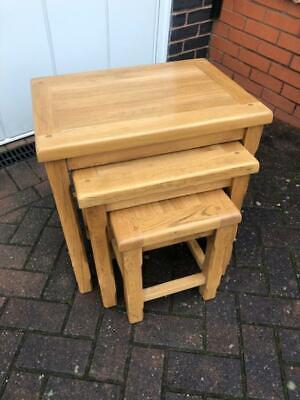 Nest Of Solid Oak Tables • 31£