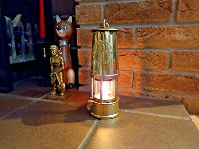 Brass Miners Lamp Eccles Protector Type 6  Unissued Condition Fully Working 1977 • 180£