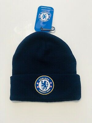 £9.99 • Buy Chelsea Football Club Official Core Cuff Beanie Wooly Blue Hat