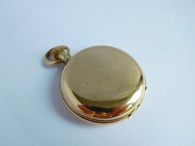 Good Quality Vintage / Antique ? Gold Plated Full Hunter Pocket Watch • 154£