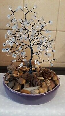 New Handmade Copper Wire And Gemstone Tree Sculpture • 4.50£