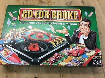 Go For Broke Board Game 2004 - Parker Games Hasbro - Complete - Great Condition • 10.50£