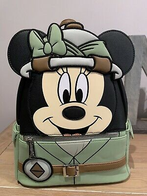NEW Disney Parks Loungefly Animal Kingdom Safari Minnie Mouse Bag Mini Backpack • 75£