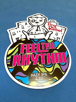 TINY REBEL Beer Pump Clip Badge - Feel The Rhythm Wales Brewery Man Cave *MINT* • 0.99£