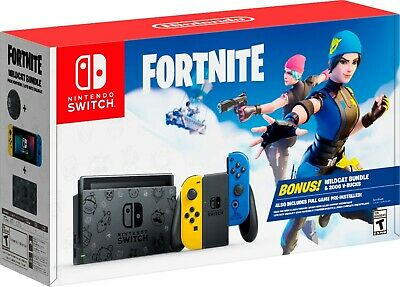 $400 • Buy Nintendo Switch Fortnite Special Edition USA Console  Wild Cat Bundle NO CODES