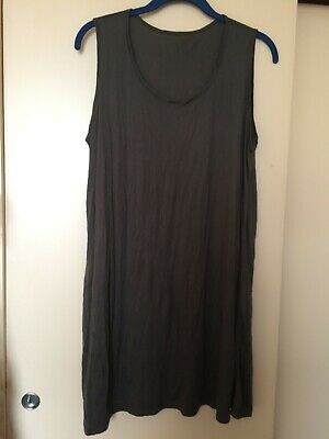 Yong Kim Crinkle Sleeveless Long Musk Tunic, Bust 40  Used Excellent Condition • 18£