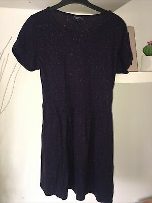 Topshop T Shirt Dress Navy Speckled   Size 8 • 1.99£