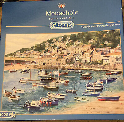 Gibsons 1000 Pieces Jigsaw Puzzle - MOUSEHOLE, CORNWALL Terry Harrison Complete • 12.99£
