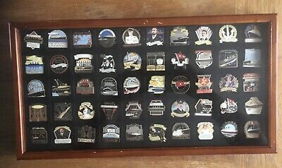 The RMS Titanic 50 Danbury Mint Centenary Pin Badge Set In Display Case • 100£