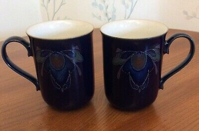 Two Denby Baroque Straight Sided Mugs  • 18£