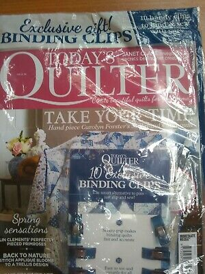 Today's Quilter Magazine Issue 59 New Unopened With Free - Binding Clips  • 2.50£