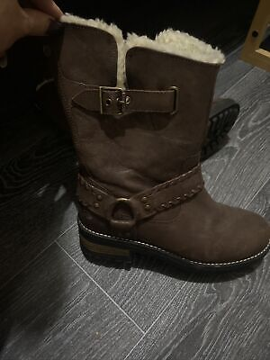 Womens Superdry Brown Boots Size 36 (3) • 12£