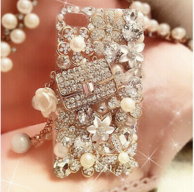 Bling Crystal Rhinestone Pearls 3D Luxury Phone Case For IPhone 11 Pro Max • 15£