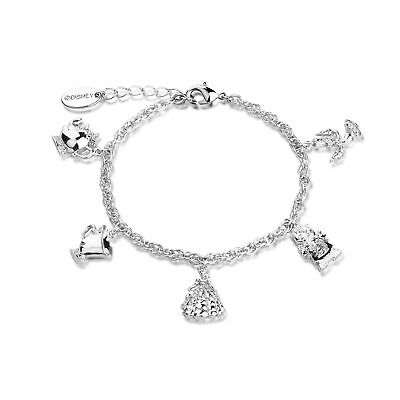 £39 • Buy Disney Couture Kingdom Beauty & The Beast White Gold-Plated Characters Bracelet