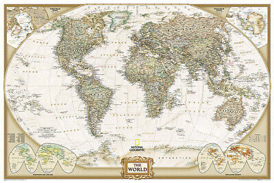 AU26.17 • Buy National Geographic Poster Size World Wall Map