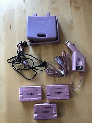 Play On Gameboy Advance SP Gummi Cover,car Charger,unused Earphones And 3 Boxes. • 3.99£