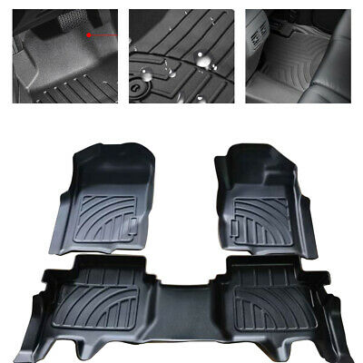 AU124 • Buy Prime Quality 3D TPE All Weather Floor Mats Liners Fit Ford EVEREST 2015-2020