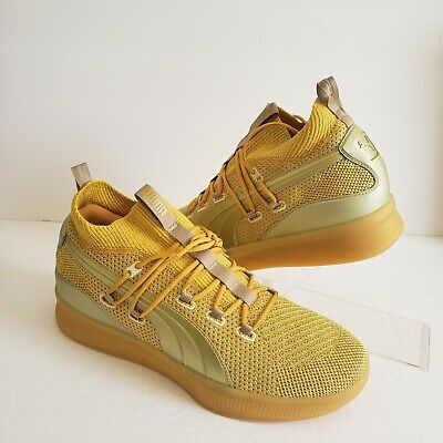 AU85.50 • Buy Puma Mens Clyde Court Disrupt Title Run Gold Basketball Shoes Size 11 192898-01