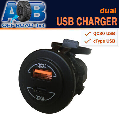 AU24 • Buy 12V 24V QC3.0 QC4.0 Dual USB Car Charger Type C USB Power Socket Quick Charge