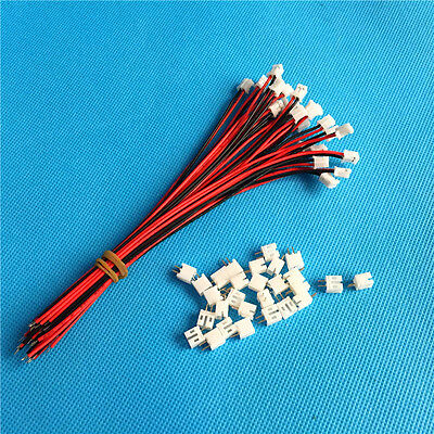 AU4.25 • Buy 50 SETS Mini Micro JST PH 2.0 2.0mm 2-Pin Connector Plug With Wires Cables