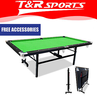 AU608.99 • Buy 2020 New 8FT Green Foldable/Fold Away Pool Table Billiard Table SpaceSaving