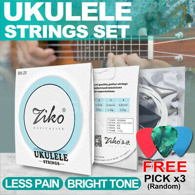 AU13.99 • Buy Ziko Ukulele 4 Strings Set Nylon Strings Guitar Kids GCEA 4 Pcs Soft Material