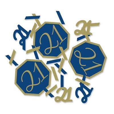 Navy And Gold Geode  Foil Stamped Table Confetti - Age 21 21st Birthday • 2.29£