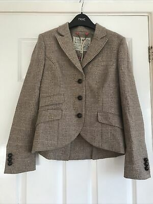 Jack Wills Tags On Size 10 Austerberry Blazer Tweed RRP £198 • 55£