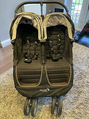 Baby Jogger City Mini Double Pushchair - Black • 75£