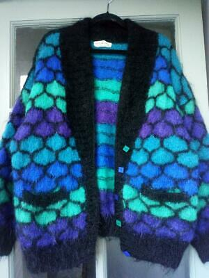 Artisan Hand Knitted In Yorkshire Mohair Cardigan L • 65£