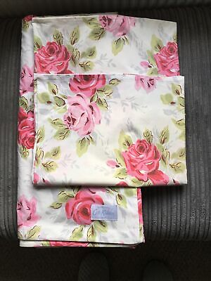 Cath Kidston Vintage Rose King Size Duvet Cover And Two Pillowcases • 22£