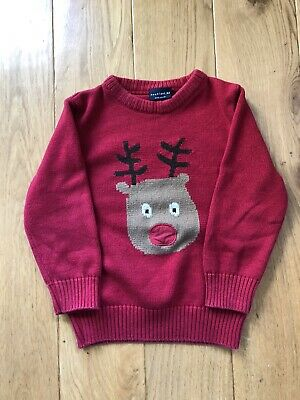 NEXT Christmas Jumper With Rudolph The Reindeer Design Aged 2-3. • 2.50£