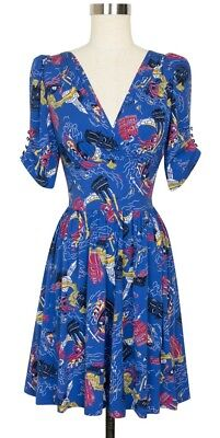 £97 • Buy Trashy Diva Dolores Dress Sold Out Venice Nights Retro Reproduction Print Sz 2