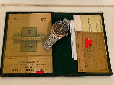 $ CDN63422.35 • Buy Rolex GMT Master 6542 Pepsi Year 1956 Bracelet 7206-80 Tropical Dial, Papers Box