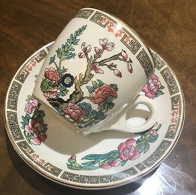 Sampson Bridgwood Lifelong Ironstone Indian Tree Coffee Cup And Saucer  • 0.99£