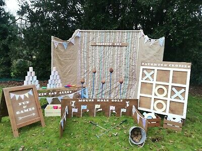 Wedding Party Garden Games Rustic Carnival FOR HIRE • 100£