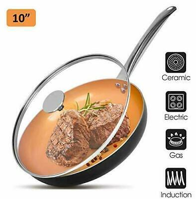 $34.99 • Buy Koch Systeme CS 10  Copper Frying Pan Ceramic Coated With Glass Lid * NEW Kohl's