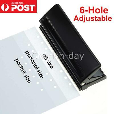AU27.98 • Buy 6-Hole Punch Loose-Leaf Puncher Paper Adjustable Stapler For Home Office Tools