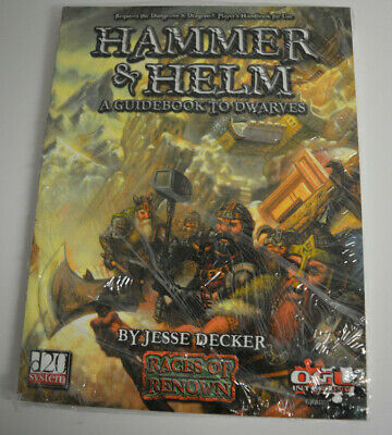 DUNGEONS & DRAGONS 3 Ed D20 - HAMMER & HELM - A Guidebook To Dwarves - VO • 9.06£