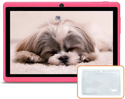 JINYJIA 7 Inches Tablet PC, Google Android 9.0 HD With Silicone Pink  • 87.29£