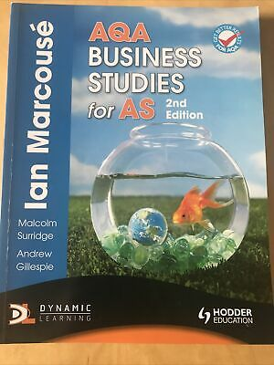 AQA Business Studies For AS 2nd Edition By Ian Marcouse • 5.99£